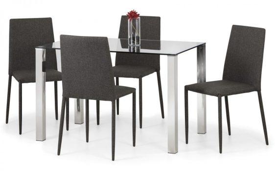 Enzo Table Jazz Chair Slate Grey Linen