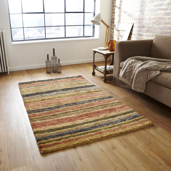 hemp stripe rug