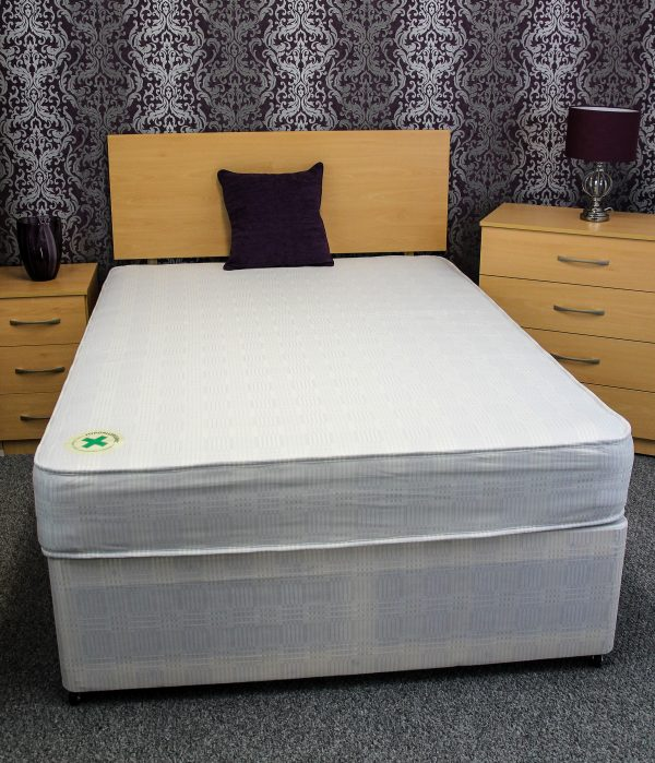 Double LUF bed base and mattress