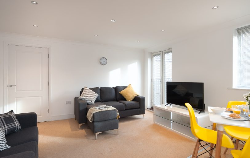 Serviced Accommodation Colchester First Property Living Room