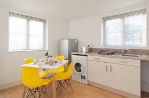 Serviced Accommodation Colchester First Property Kitchen Section