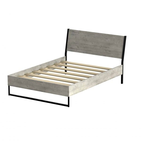 5ft Diego Bed in Concrete & 5ft Opal Mattress