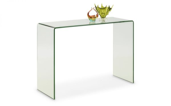 amalf bent glass console table
