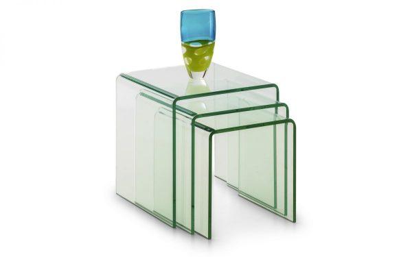 amalfi bent glass nest of tables